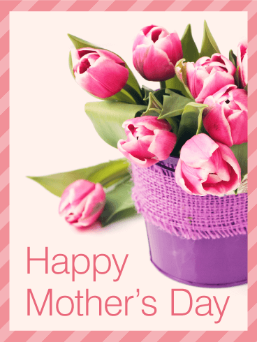 Tulip happy mothers day card birthday greeting cards by davia tulip happy mothers day card m4hsunfo
