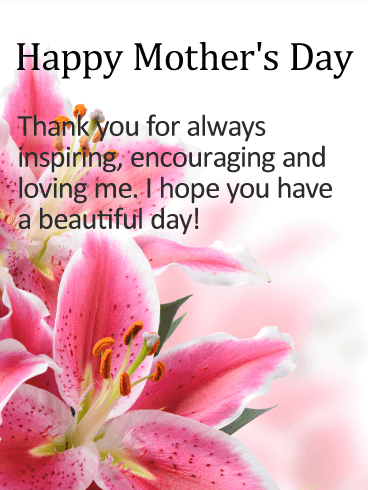 Enjoy your special day happy mothers day card birthday have a beautiful day happy mothers day card m4hsunfo