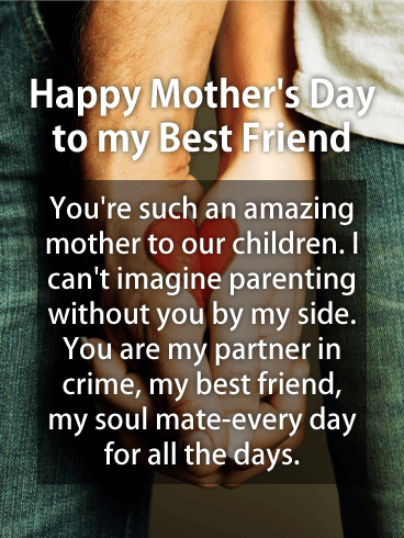 To my Partner in Crime - Happy Mother's Day Card for Wife