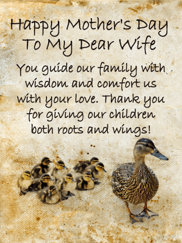 You Guide our Family - Happy Mother's Day Card for Wife