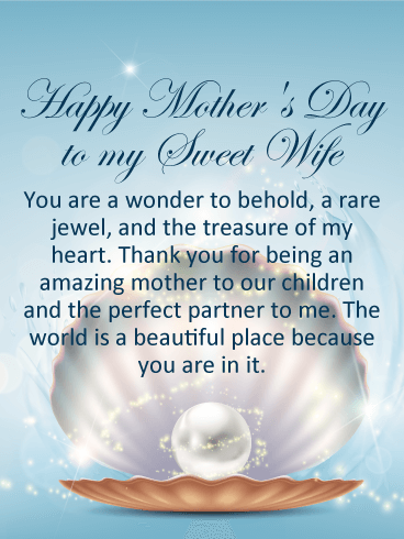 Pearl Happy Mother's Day Card for Wife