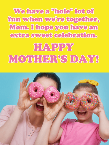 Donuts Funny Mother's Day Card