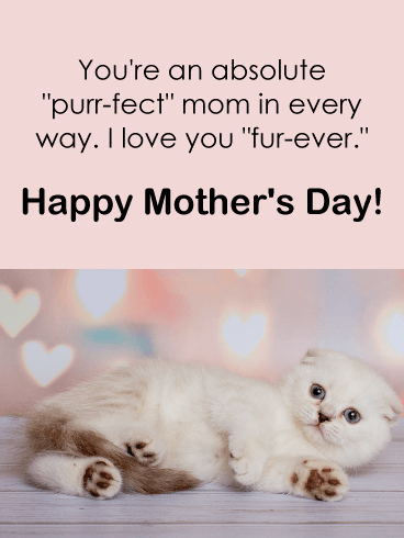 "Love You ""Fur-Ever"" - Funny Mother's Day Card"