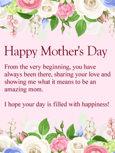 To my amazing mom happy mothers day card birthday greeting to my amazing mom happy mothers day card m4hsunfo