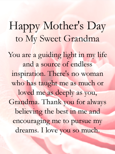 You are a Guiding Light - Happy Mother's Day Card for Grandmother
