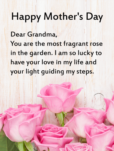 Heartfelt Happy Mother's Day Card for Grandmother