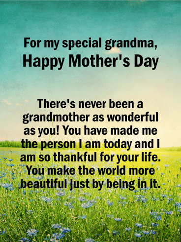 For my Special Grandma - Happy Mother's Day Card