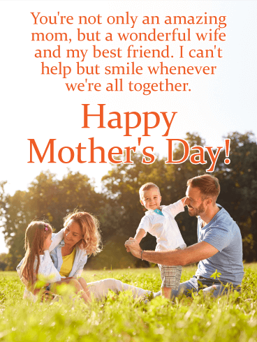 To a Wonderful Wife - Happy Mother's Day Card for Wife