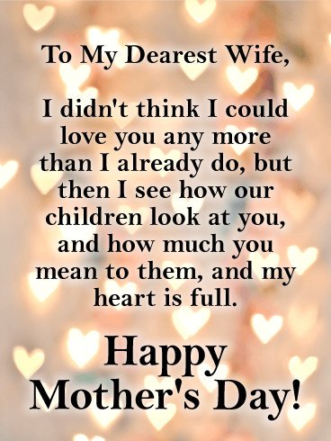 My Heart is Full - Happy Mother's Day Card for Wife