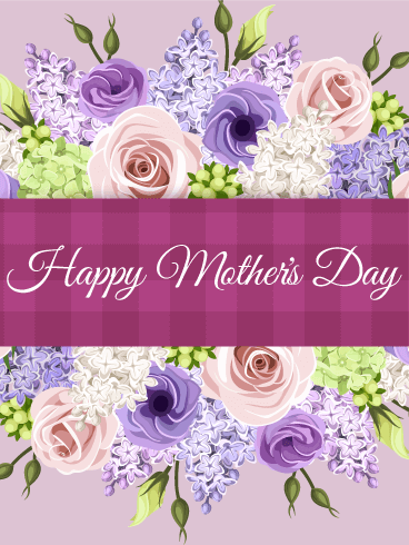 Stunning Flower Happy Mother's Day Card