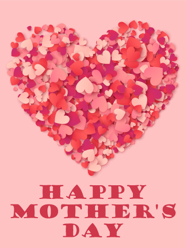 A Big Heart Happy Mother's Day Card