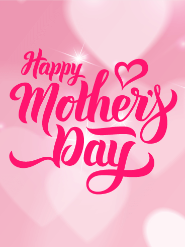 Shining Happy Mother's Day Card