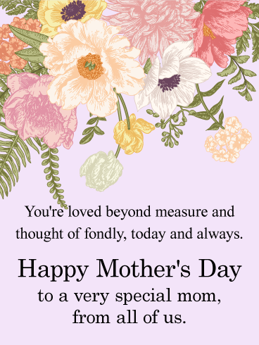 Heartfelt Flower Happy Mother's Day Card