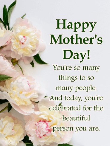 To a Beautiful Mother - Happy Mother's Day Card