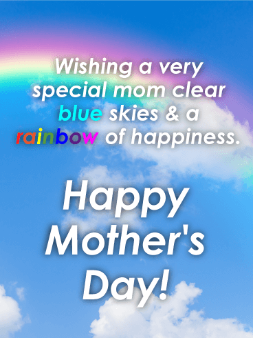Rainbow Happy Mother's Day Card