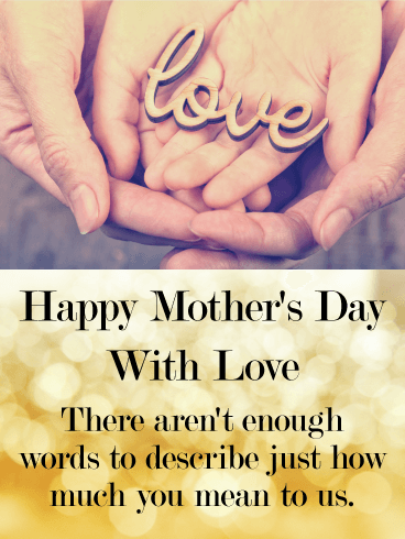 You mean a lot to us happy mothers day card birthday greeting you mean a lot to us happy mothers day card m4hsunfo