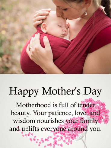 Sweet Happy Mother's Day Card for Daughter