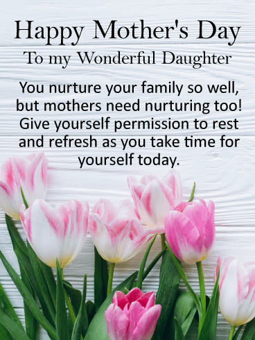 to my wonderful daughter happy mothers day card