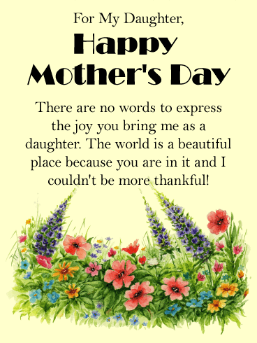 You Bring Me Joy! Happy Mother's Day Card for Daughter