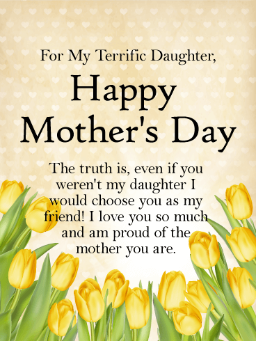 to my terrific daughter happy mothers day card