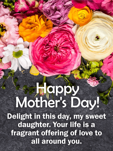 To my Sweet Daughter - Happy Mother's Day Card