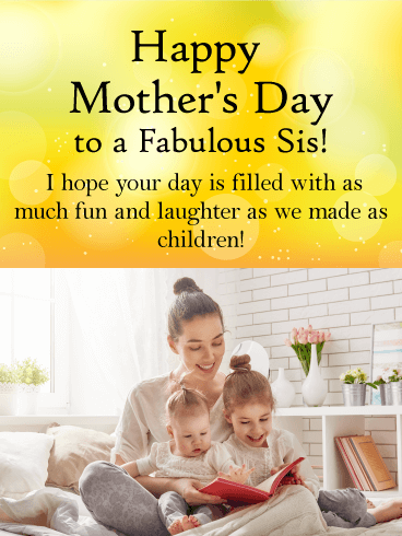 To a fabulous sister happy mothers day card birthday greeting to a fabulous sister happy mothers day card m4hsunfo