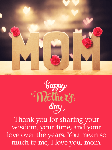 You Mean So Much to Me - Happy Mother's Day Card