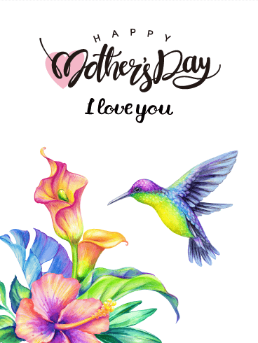 Beautiful Flowers Happy Mother's Day Card