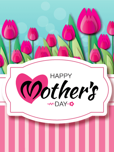 Pretty Pink Flowers Happy Mother's Day Card