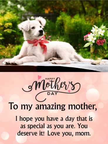 To my Amazing Mother - Happy Mother's Day Card