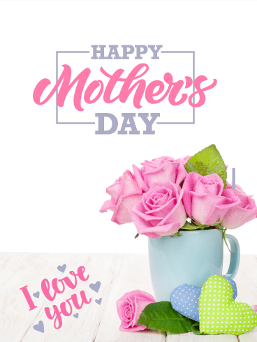 Pink Roses Happy Mother's Day Card