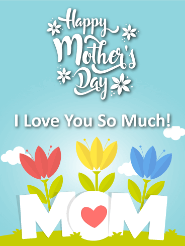 Colorful Tulips Happy Mother's Day Card