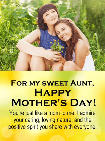 You're Just Like a Mom - Happy Mother's Day Card for Aunt