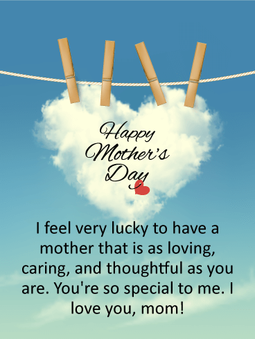 To A Thoughtful Mom Happy Mothers Day Card Birthday Greeting
