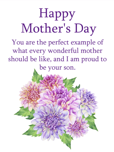 I'm Proud to be Your Son - Happy Mother's Day Card