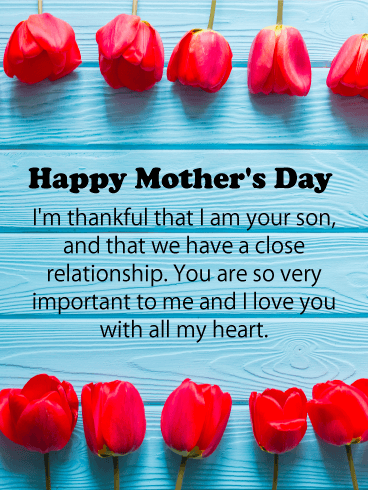 You are so Important to Me! Happy Mother's Day Card