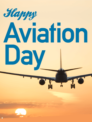 Flying High! Happy Aviation Day Card