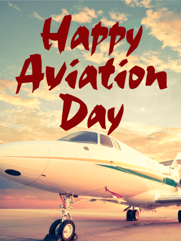 Let's Fly! Happy Aviation Day Card