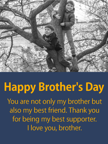 To my Best Supporter - Happy Brother's Day Card
