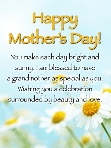 You Make Each Day Bright and Sunny-Happy Mother's Day Card for Grandmother