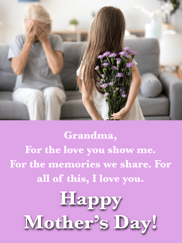 Sweet Grandmother in My Life-Happy Mother's Day Card for Grandmother