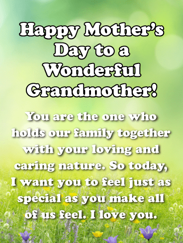 Feel Just as Special as You Make All of Us Feel-Happy Mother's Day Card for Grandmother