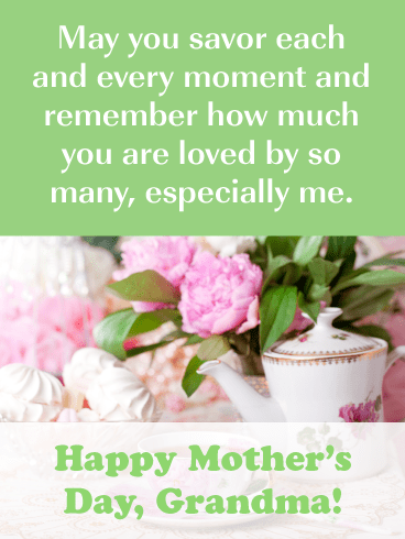 You Are Loved by so Many, Especially Me-Happy Mother's Day Card for Grandmother