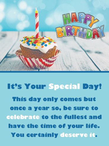 A Special Cupcake – Happy Birthday Card