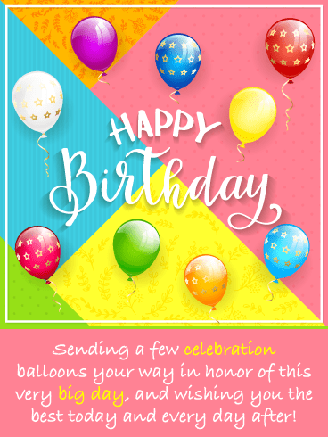 Fantastic Celebration Balloons – Happy Birthday Card