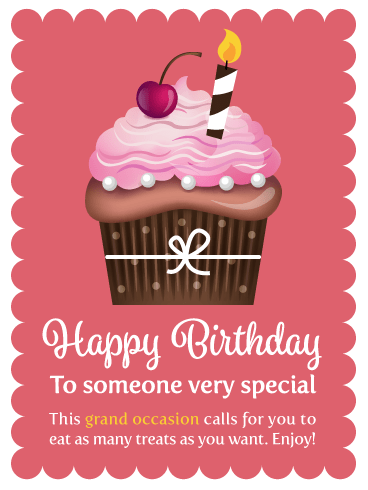 A Sensational Cupcake – Happy Birthday Card