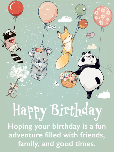 Fun Times – Happy Birthday Card