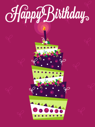 Extravagant Celebration Cake – Happy Birthday Cards
