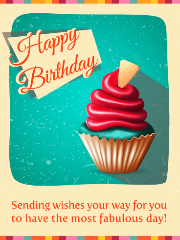 Sensational Cupcake! Happy Birthday Card