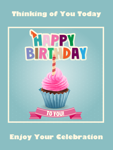 A Perfect Pink Cupcake – Happy Birthday Card